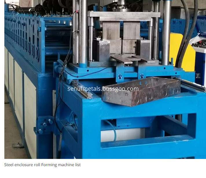 Flush Mount Electrical Enclosure Roll Forming Machine For Producing Outdoor Indoor Box1