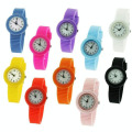 Very light silicone quartz watch