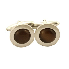 Wholesales Plated mens round stainless steel cufflink shirts
