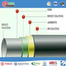 API 3PE Coating Spiral Welded Carbon Steel Pipe for Water & Oil Transportation