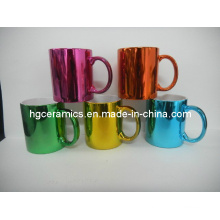 Tasses de couleur métallique, tasse métallique de finition