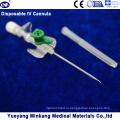 Блистерная упакованная медицинская одноразовая канюля IV с катетером для инъекций с портом для инъекций 18 г