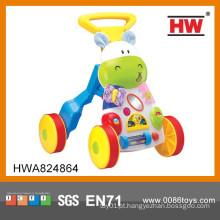 Alta qualidade plástico musical bebê caminhando carrinho