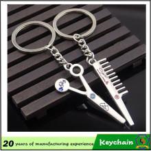 Barber Tools Comb e porta-chaves Scissor para casais