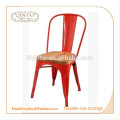 high quality vintage metal chair/wood seat chair