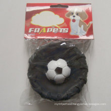Dog Toy of Vinyl Tire with Football for Dog