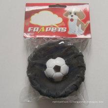 Игрушка для собак из винила шин с футболом для собаки
