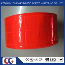 Fita reflexiva vermelha pura do PVC com estrutura de cristal