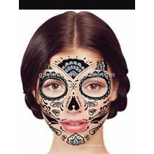 Temporal de transferencia de agua personalizada máscara de tatuaje para fiesta