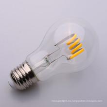 A19 bombilla de filamento LED suave 6500K 4w 6w