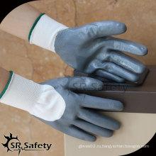 SRSAFETY 13G трикотажный нейлон 3/4, нитриловые перчатки оптом Поставщики CHINA