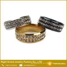 Kundengebundener neuer Entwurfs-Damen-Finger-Ring-preiswerter Hochzeits-Kubikzircon-Ring