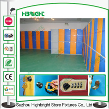 2 niveles de plástico armario casillero de candado