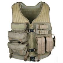 Colete de nylon tático web carregam o colete do exército de colete placa padrão ISO