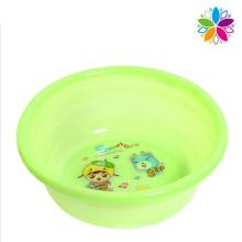 Round Cartoon Design Plastic Wash Basin (SLP037)