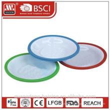 plate(2pcs) ronde en plastique