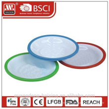 plastic round plate(2pcs)