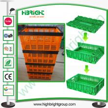 Récipient ventilé de stockage pliable en plastique