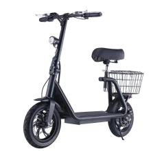 12'' black color 48v 350w folding electric scooter