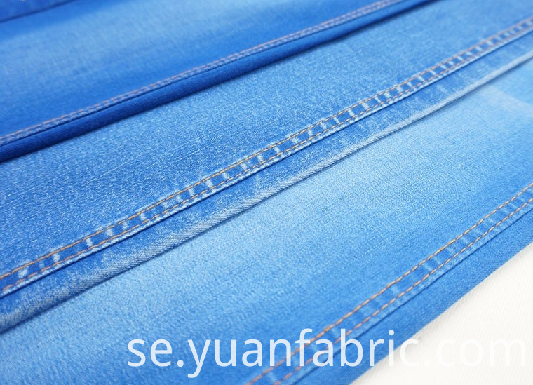 106wholesale Mercerized Warp Slub Denim For Woven Jeans