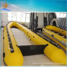 Chaming Gelb Farbe PVC Boote zum Verkauf hohe Qualität und günstige Angelboote/Fischerboote