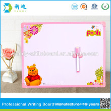 lovely Bear magnetic whiteboard stick on fridge for kids