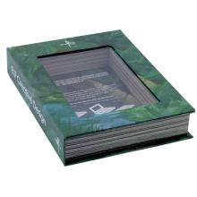 Custom Printed With Logo Rigid Cardboard Book Shape Luxury Packaging Closure Premium Window Gift Box