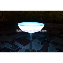 PE en plastique télécommande LED bar tables/changeant de couleur LED cocktail tables et éclairage LED lumière vers le haut de tableau