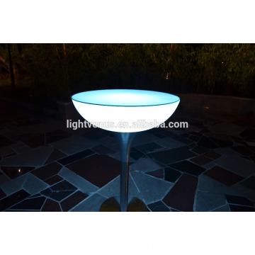 PE Kunststoff Fernbedienung LED Bar Tische/Farbwechsel LED Stehtische/beleuchtete LED-Licht-Tabelle