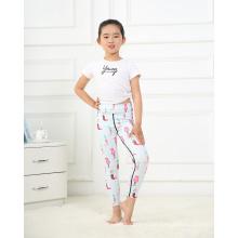 Soft Gym Sport Kids Stretchy Clothing Leggings Pants