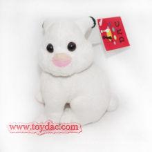Plüsch Mini weißes Kaninchen Schlüsselring Spielzeug