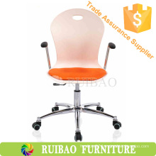 Plastic Armchairs Office Visitor Chair with Mesh Cushion