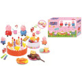 Favory Pink Pig Birthday Cake Juguetes con luz