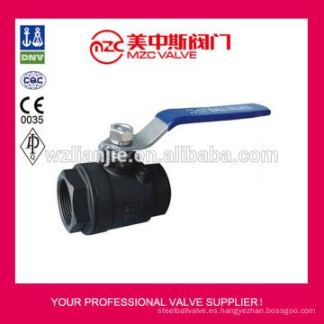 Válvulas de bola de acero de carbono 2pc atornillan válvulas WCB extremos 1000 PSI