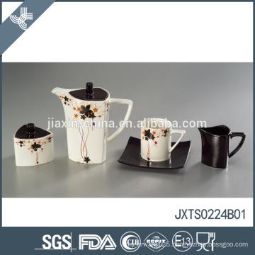 Fine hot style ceramic elegant flower decal design nice teapot drinkware