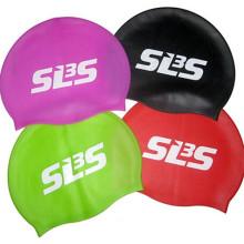 Touca de natação personalizada durável do silicone