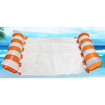 Hamaca de agua de cama flotante portátil de malla inflable