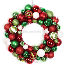 Personalized Multi Color Christmas Ball Wreaths