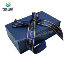 Printed Elegant Paper Gift Ribbon Jewelry Packaging Box Storage Box
