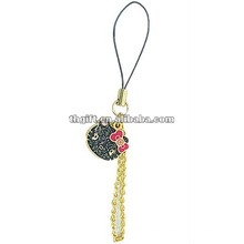 lovely metal cell phone straps