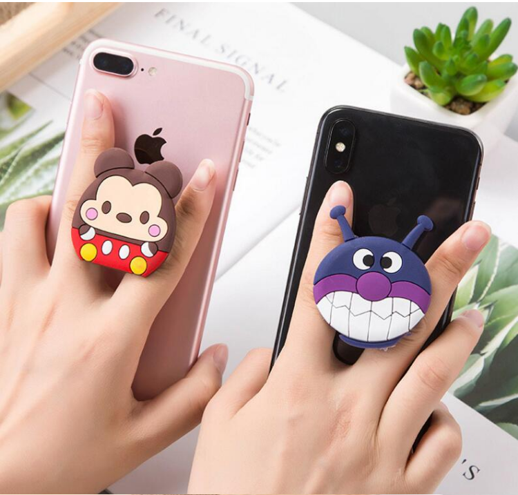 silicone cartoon phone holder