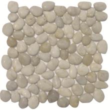Sliced Flat River Polished Pebble Stone Mosaic Tiles