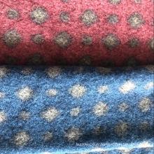 Tissu de laine à grosses aiguilles en polyester régénéré