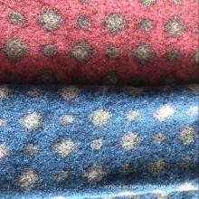 Paño de lana de aguja gruesa de poliéster regenerado