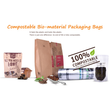 Borsa per alimenti compostabile / biodegradabile con finestra