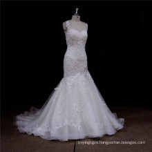 Arabic Mermaid Gown Luxury Beading Lace Bridal Weddign Dress