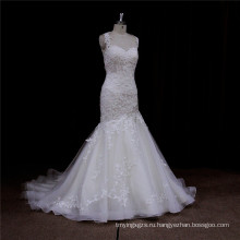 Арабский Русалка Платье Роскошные Бисероплетение Кружева Weddign Платье Невесты