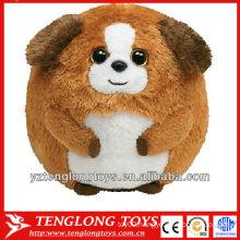 2014 new type dog shaped baby plush animal ball toy