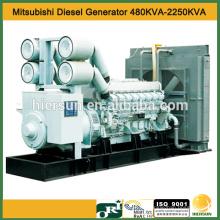 50hz AC 3 fases 480kva Mitsubishi generador diesel con motor S6A3-PTA-S