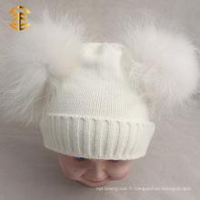 Modèle de détonation Khaki Double Pom Cuff Funny Cute Beanie Hats For Kid
